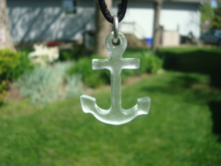 Sea glass anchor