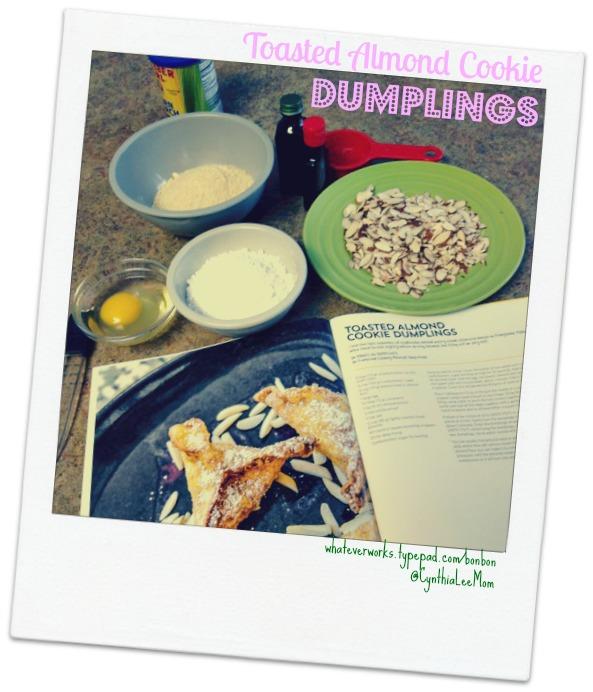 Toasted almond dumplings