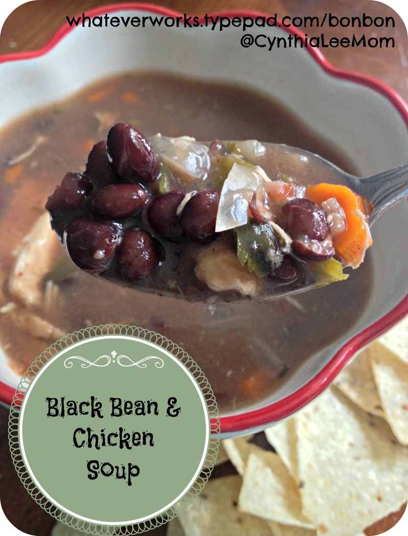 Black bean chicken soup