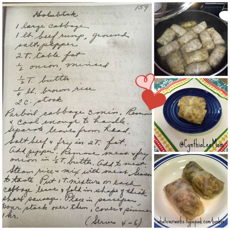 Stuffed cabbage collage